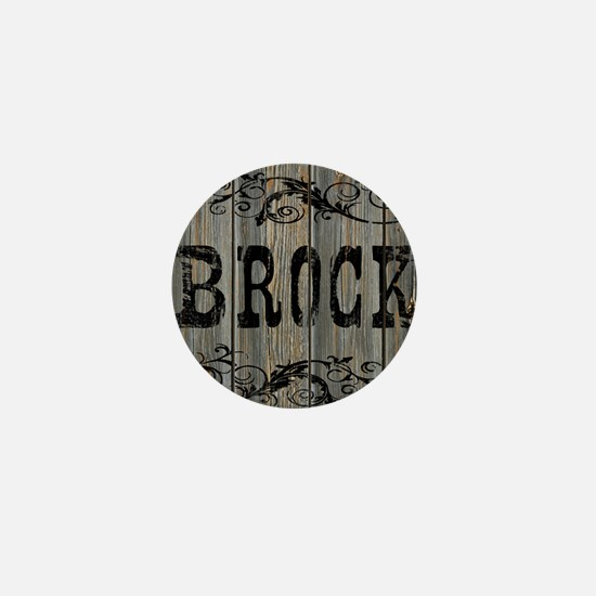 Brock, Western Themed Mini Button