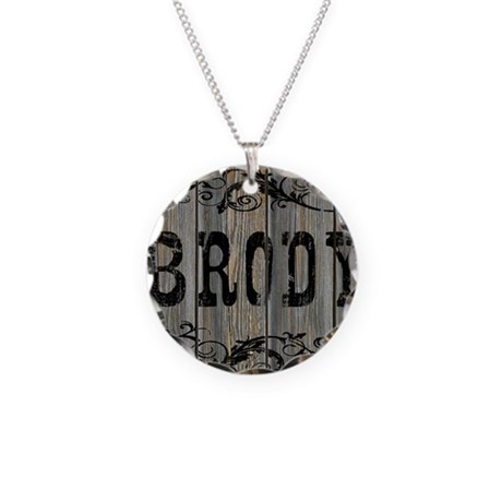 Brody, Western Themed Necklace Circle Charm