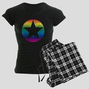 Rainbow Star Women's Dark Pajamas