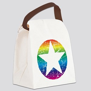 Raindow Star 2 Canvas Lunch Bag