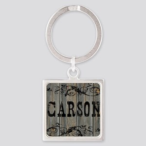 Carson, Western Themed Square Keychain
