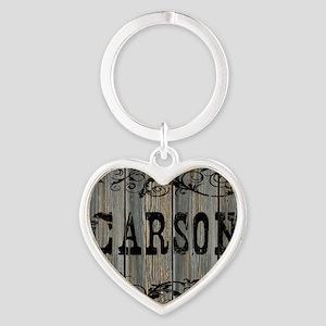 Carson, Western Themed Heart Keychain