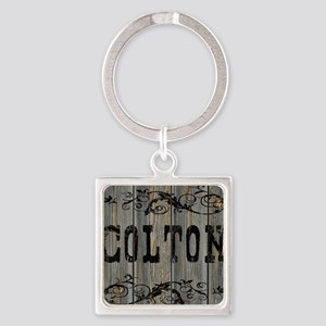 Colton, Western Themed Square Keychain