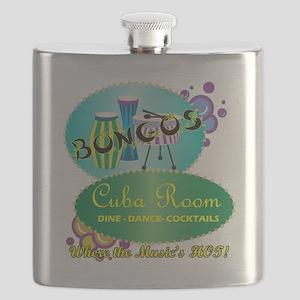 BONGOS CUBA ROOM RETRO 50S NIGHTCLUB Flask