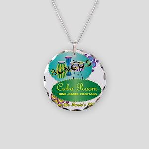 BONGOS CUBA ROOM RETRO 50S N Necklace Circle Charm