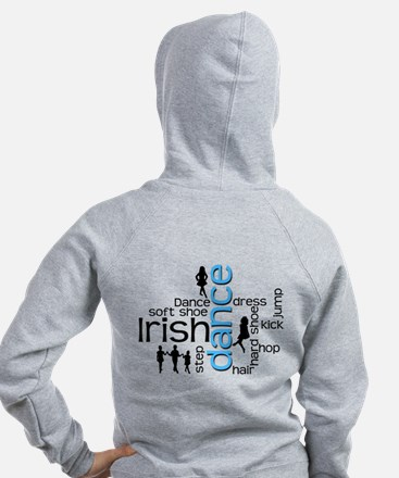 Irish Dance Words Zip Hoodie