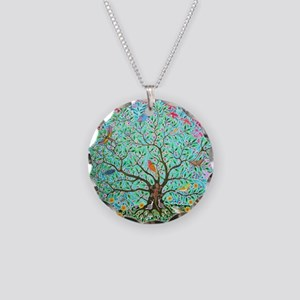 tree of life 4 Necklace Circle Charm