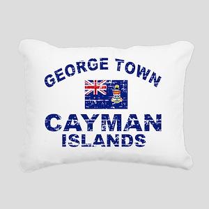 CAYMAN ISLANDS Rectangular Canvas Pillow