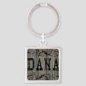 Dana, Western Themed Square Keychain