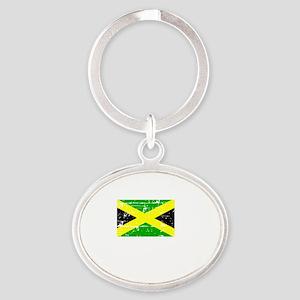 JAMAICA1 Oval Keychain