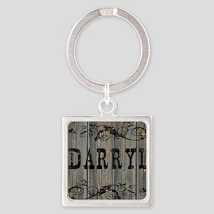 Darryl, Western Themed Square Keychain