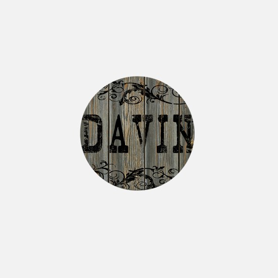 Davin, Western Themed Mini Button