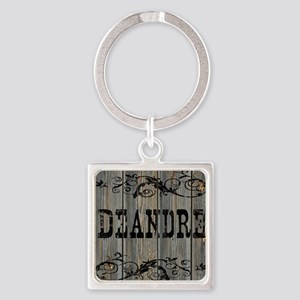 Deandre, Western Themed Square Keychain