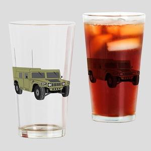 Military Humvee Drinking Glass