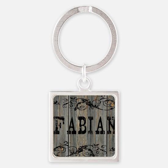 Fabian, Western Themed Square Keychain
