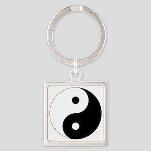 yinyanglightNew Square Keychain