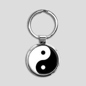 yinyanglightNew Round Keychain