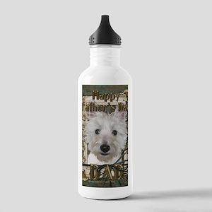 StonePawsWestieTankDAD Stainless Water Bottle 1.0L