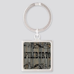 Filiberto, Western Themed Square Keychain