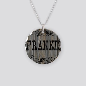Frankie, Western Themed Necklace Circle Charm