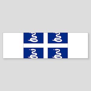 Martinique flag unofficial Bumper Sticker
