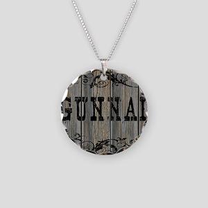 Gunnar, Western Themed Necklace Circle Charm