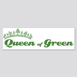 Queen of Green Bumper Sticker