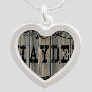 Hayden, Western Themed Silver Heart Necklace