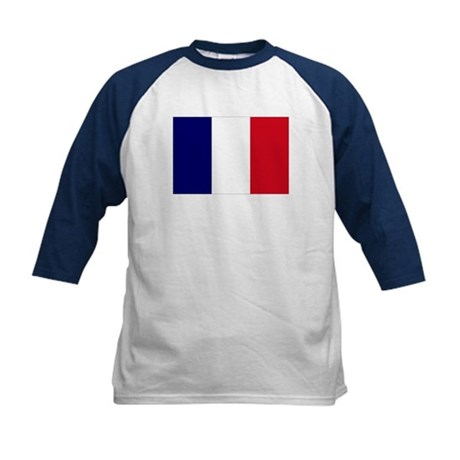 The French flag Kids Baseball Jersey
