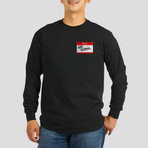 Hello, my name is Abby Normal Long Sleeve Dark T-S
