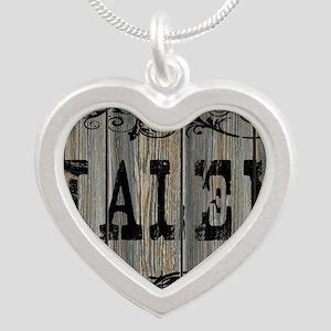 Jalen, Western Themed Silver Heart Necklace