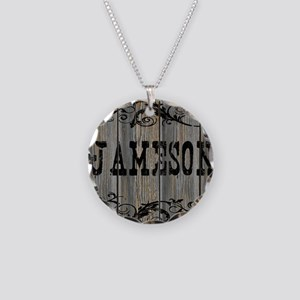 Jameson, Western Themed Necklace Circle Charm