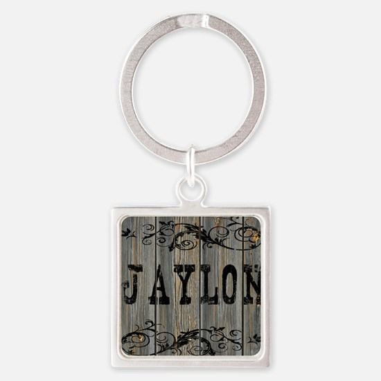 Jaylon, Western Themed Square Keychain