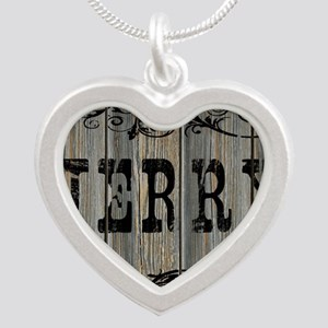 Jerry, Western Themed Silver Heart Necklace