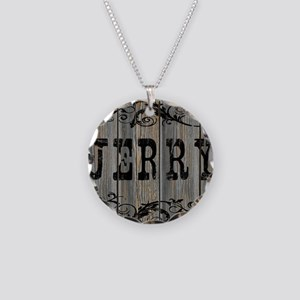 Jerry, Western Themed Necklace Circle Charm