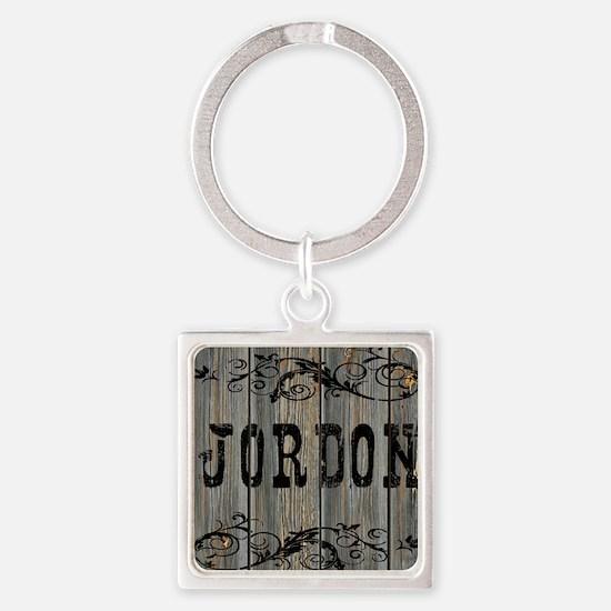 Jordon, Western Themed Square Keychain