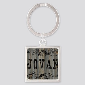 Jovan, Western Themed Square Keychain