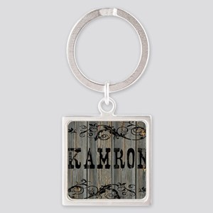Kamron, Western Themed Square Keychain