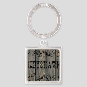 Keyshawn, Western Themed Square Keychain