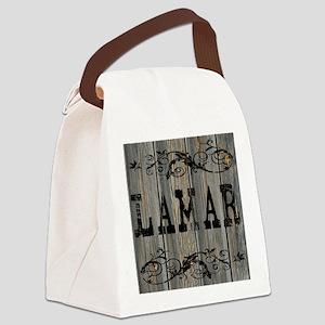 Lamar, Western Themed Canvas Lunch Bag