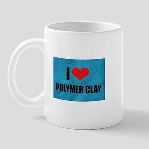 I Love Heart Polymer Clay Mug