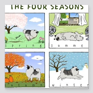 "thefourseasonsZ Square Car Magnet 3"" x 3"""