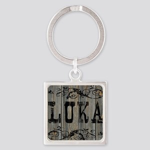 Luka, Western Themed Square Keychain