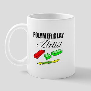 Polymer Clay Artist Mug