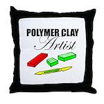 Polymer Clay Artist Throw Pillow