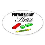 Polymer Clay Artist Oval Sticker