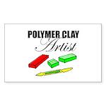 Polymer Clay Artist Rectangle Sticker
