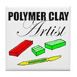 Polymer Clay Artist Tile Coaster