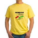 Polymer Clay Artist Yellow T-Shirt