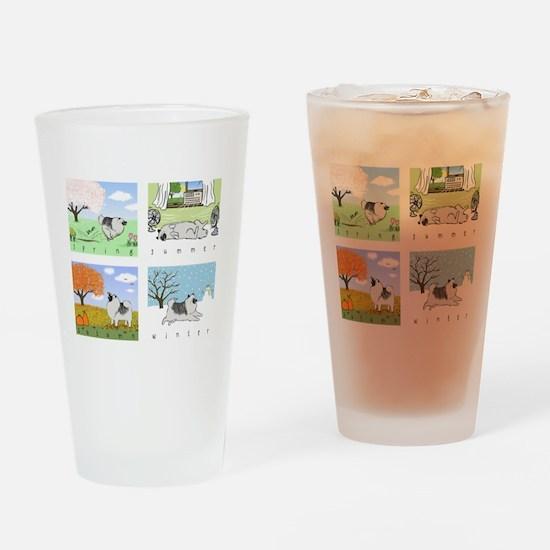 fourseasons3blackshirt Drinking Glass